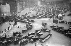 An endless stream of 1920s cars and buses line up to take a ride through the brand new Holland Tunnel on opening day. Flags are hung throughout and people come out to observe the celebration. Nov 12, 1927. New York. (wavz13) Tags: newyorkcity 1920s urban vintagecar skyscrapers antiquecar newyorkskyline oldcar oldcars oldnewyork modelt vintagecars oldford cityviews newyorkhistory antiquecars oldbus oldphotography vintageford oldchevy vintagebus oldfords lostnewyork newyorkarchitecture newyorkbuildings vintagephotography vintageconstruction oldbusses 1920sphotos vintagenewyork manhattanbuildings 1920sconstruction oldpackard oldbuicks 1920scar vintagebuick oldmanhattan oldchevies vintagechevies vintagebusses vintagepackard vintagefords vintagemanhattan vintagebuicks oldpackards 1920scars 1920snewyork 1920smanhattan 1920sbus manhattanhistory 1920sphotographs 1920slife 1920sbusses 1920swestside 1920shollandtunnel vintagepackards antiquechevies