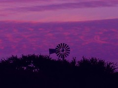 windmill sunset (KelliMays) Tags: sunset windmill texas purple hillcountry sunsetting silouete purpleskies