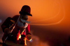 Smoking Man (unluckypixie) Tags: christmas man festive candle smoke incence