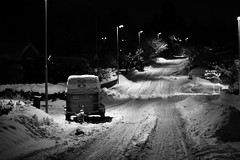 Winter Street (callocx) Tags: street winter bw snow sweden vsters