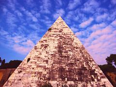 Pyramid of Cestius (linking Art) Tags: italy rome roma europe pyramid roman unescoworldheritagesite lazio eternalcity blinkagain