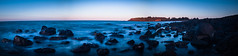The Sparling Blues That Surround Coles Beach (Kuyan Redman) Tags: ocean blue sea sky panorama white black beach photography rocks seascapes australia nikond50 best tasmania devonport 2012 coles redman kuyan seascapephotography platinumheartaward blinkagain rememberthatmomentlevel1 kuyanredman