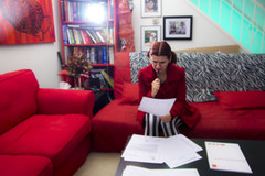 Day 2157 (evaxebra) Tags: red house stripes couch study papers zebra learning 365 title studying wh buying escrow 365days blackmilk evaxebra blackmilkclothing