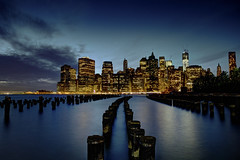 Manhattan at Dusk (Subversive Photography) Tags: nyc longexposure travel usa newyork architecture skyscraper canon river pier us cityscape dusk manhattan smooth filter nd subversive danielbarter
