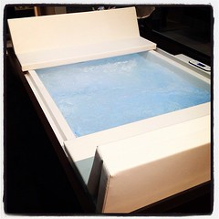 Bubbling spa at Duravit booth. You think it's OK to jump in? (Yahoo! Homes) Tags: dod2012 dwellondesign2012