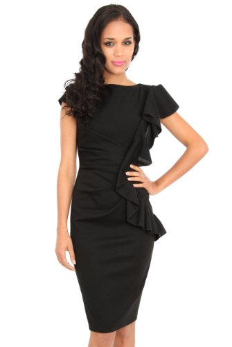 Cocktailkleid one shoulder schwarz