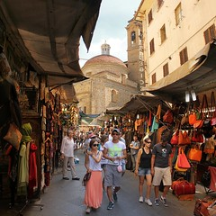 Strolling at the Florence leather market near Basilica di San Lorenzo (Bn) Tags: basilica di san lorenzo florence italy italia firenze itali azure architecture church market leather outdoor jewellry souvenirs tourists strolling street scarves shoes gloves jacket prices haggle medici chapels verndors bargains city center visitors sintlaurensbasiliek ledermarkt michelangelo biblioteca laurenziana colorful colors summer holiday sculptures exterior coats wallets belts backpackpurse open buy purchase tuscany visit bargain browse arts culture urban people alley 50faves topf50