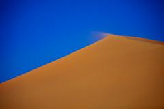 A Breath of freash air (Gilad Benari) Tags: blue sky orange abstract art sahara nature print poster landscape sand different desert graphic dune morocco gilad  benari