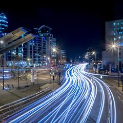 Vauxhall light trail (adrian.wai) Tags: london lighttrail nex pancakelens vclecu1 ultrawideconverter me2youphotographylevel2 me2youphotographylevel3 me2youphotographylevel1 me2youphotographylevel4