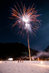 Fireworks in the Alps (boscoppa) Tags: snow alps switzerland fireworks elm glarus