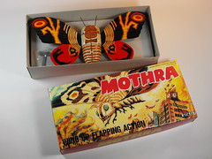 Billiken Shokai  Tin Wind Up  Mothra ()  Box Sides  Box Inside (My Toy Museum) Tags: up tin wind godzilla mothra gojira billiken shokai
