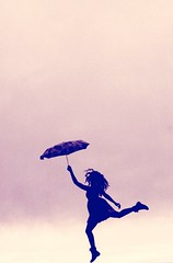 Spontaneous. (karinaa_) Tags: art umbrella happy photography jump jumping pretty jumpforjoy