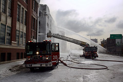 (BCalico) Tags: winter chicago building ice fire warehouse ashland 37th cfd 2013