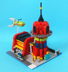 Planet Express (Oky - Space Ranger) Tags: building scale ship lego headquarters micro planet scifi futurama express bender