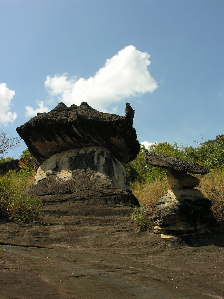More oddly shaped stones, Mukdahan National Park, Northeast Thailand