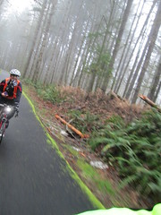 Susan, glove in mouth (Lynne Fitz) Tags: bicycle oregon trail 100k banks permanent randonneur vernonia