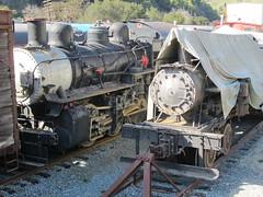 Weather-Beaten Steam Locomotives in Niles Canyon, CA (CaliforniaRailfan101 Photography) Tags: heritage pacific steam sp shay cabride mallet ge wp baldwin southernpacific alco emd sd9 westernpacific gp9 nilescanyonrailway steamlocomotives centercab 462 funit heisler gp7 nilesca h1244 44tonner 3truck rprc richmondpacific sp2472 80tonner sp1423 oaklandterminalrailway 65tonner 2662t pickeringlumbercompany clovervalleylumbercompany4 brightsideyard nathanm3