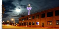 Skylon Tower From Robinson St (jwvraets) Tags: supermoon moon lunareclipse eclipse skylontower niagarafalls robinsonst night longexposure niagara opensource rawtherapee gimp nikon d7100 nikor18105mmvr