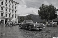 1955 class (Iceman_Mark) Tags: mercedes 300 sl classic gullwing design friedrich geiger 1950s 1955 3litre straight6 passione caracciola june summer piazzariforma lugano ticino switzerland bw blackandwhite