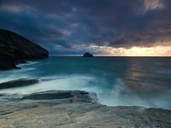 Cornwall (Stephen Walford Photography) Tags: cornwall kernow trebarwithstrand sea sunset rocks longexposure blue sky clouds uk tourism europe england olympus em5