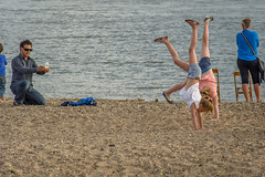 handstands (stevefge (away for a few days)) Tags: 2016 nijmegen stadseiland zomerfeesten waal water beach nederland netherlands nederlandvandaag reflectyourworld people candid girls children kids kinderen event father summer sun rivers