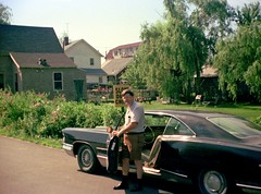 On a summer Saturday morning, after food shopping at the Hills supermarket in the open-air Connecticut Post Mall, dad parks his black 1965 Pontiac Bonneville on Rock Street with the trunk still full of groceries. Milford Connecticut. July 1974. (wavz13) Tags: oldphotographs oldphotos 1970sphotographs 1970sphotos oldphotography 1970sphotography vintagesnapshots oldsnapshots vintagephotographs vintagephotos vintagephotography filmphotos filmphotography historicphotographs historicphotos historicphotography vintagemilford oldmilford 1970smilford vintagewoodmont oldwoodmont 1970swoodmont connecticutphotographs connecticutphotos oldconnecticutphotography oldconnecticutphotos oldconnecticut vintageconnecticut connecticutphotography vintagenewengland oldnewengland 1970snewengland vintagenewenglandphotography oldnewenglandphotography vintagenewenglandphotos oldnewenglandphotos oldfamilyphotos vintagefamilyphotos oldfamilyphotography vintagefamilyphotography 110film kodacolor analogphotography instamatic pocketinstamatic vintagecars vintagecar oldcar oldcars 1960scars 1960scar collectiblecars collectablecars oldpontiacs vintagepontiacs collectablepontiacs collectiblepontiacs grain grainy summertime summer