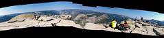 Summit Panorama (Lost in Flickrama) Tags: yosemite nationalpark hiking backpacking adventure johnmuirtrail wilderness granite rocks pinetrees california