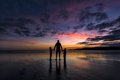 Newgale (Explored 20/08/16) (Andy2305) Tags: newgale pembrokeshire wales beach sky sunset reflections silhouettes family explored