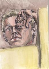aquarell (JENS01) Tags: selbstportrait aquarell portraits colored fineliner sketches berlin friedrichshain art kunst skizze painting dessin