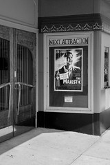 The Norwalk Theatre, Norwalk, OH, October, 2014 (Norm Powell (napowell30d)) Tags: fineart norwalk street city ohio minimalist bw monochrome travel theatres theatre blackandwhite film thenorwalktheatre