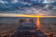 Sunrise Pier (mcalma68) Tags: pier jetty ijsselmeer thenetherlands sunrise lake seascape longexposure clouds waterfront
