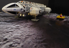 Eagle 2 Survey Mission. (ManOfYorkshire) Tags: eagle transporter landed seismic survey space1999 gerryanderson productenterprise diecast sale model diorama 176 moon buggy astronaut driver explore driving eagle2 inspred