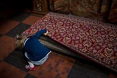 . (www.piotrowskipawel.pl) Tags: olenica wojewdztwodolnolskie poland documentary documentaryphotography dailylife religion faith mass church christianity pawepiotrowski piotrowskipawelpl polska girl littlegirl curious carpet