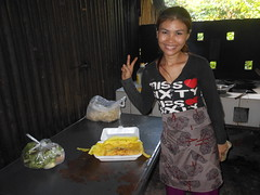 The lady who makes Cambodian pancakes. (rodeochiangmai) Tags: ladies cambodia