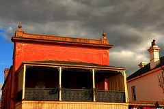 Molong Balcony (Darren Schiller) Tags: molong architecture building history heritage newsouthwales clouds red balcony smalltown