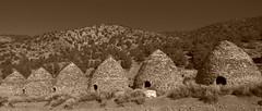Wildrose Canyon charcoal kilns #11 (jimsawthat) Tags: sepia desert mojavedesert rural california stone historic charcoalkilns mountains panamintmountains deathvalleynationalpark