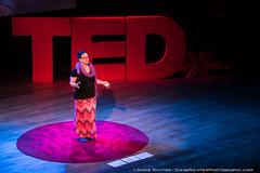 "Stephanie Smith speaking at TEDxLehighRiver (Stephanie ""Biffybeans"" Smith) Tags: 2016 allentownsymphonyhall event stephaniesmith tedxlehighriver mandala artist sacred art geometry public speaking yogi philosophy spirituality allentown"