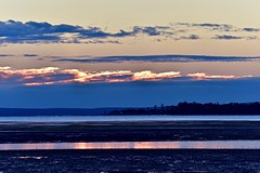 Electric clouds (nealemaynard) Tags: nikon wellingtonpoint dawn sunrise clouds water light morning