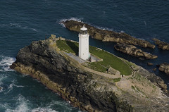 Godrevy Lighthouse - built by Trinity House in 1859 (John D F) Tags: godrevy lighthouse trinityhouse stivesbay aerial aerialphotography aerialimage aerialphotograph aerialimagesuk aerialview cornwall coast