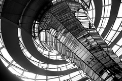 Dome Interior (daniel_james) Tags: 2016 berlin germany europe mitte reichstag parliamenthouse dome kuppel canon1022mm blackandwhite modern architecture