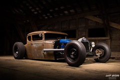 They don't make them like they used to.. (Cody Waters Photography) Tags: automotive automobile car cars ford modela airride bagged custom handbuilt lighting lightpainting coveredbridge night