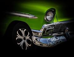 Mean green motor machine (digitaloptics) Tags: cars car canon art motor light shade driving drive dramatic cuba green colour lights wheels reflection