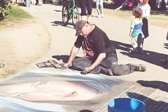 Buskerfest 2016 - Day 3 (afternoon) (MorboKat) Tags: toronto woodbinepark busker busking buskerfest performer art artist chalk chalkartist