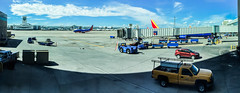 gate c 38 (pbo31) Tags: denver colorado unitedstates color boury pbo31 september 2016 summer iphone6 airport aviation terminal international dia travel trip gate plane panoramic large stitched panorama wait flight west southwest airlines blue sky ramp boeing 737 taxi jet apple