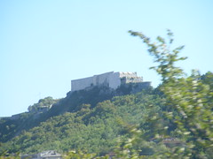 Knin Fort - 1st Class Train Trip across Croatia summer 2016 (seanfderry-studenna) Tags: train trip vacation holiday tourism tourist 1st class across croatian croatia hrvatska balkans europe european eu views towns villages countryside rural summer 2016 visitors monuments trees bushes mountains buildings war knin fort fortress castle walls defences defenses