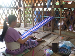 Making traditional Karen hill tribe textiles (eltpics) Tags: thailand eltpics doiinthanon nationalpark traditional karen hilltribe textiles cloth clothes fashion weaver