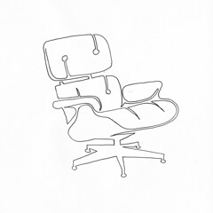 a single line drawing of Eames Lounge Chair (Chad Coombs) Tags: cchadcoombs eames lounge chair eamesloungechair unsceneart asingleline oneline oneliner single line singleline ink marker design furniture famous vintage classic famouse get naked ontop these topless pantless fun all over