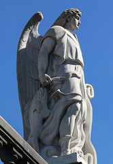 St Raphael (Lawrence OP) Tags: saints raphael archangel fish stone sculpture statue mexicocity guadalupe shrine tepeyac