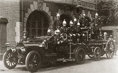 Fire Brigade in Hertford (CardCollector & HobbyPhotographer) Tags: postcard england realphoto vintagephoto firebrigade 1904 hertford