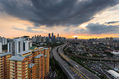 Before the Sunset over the Kuala Lumpur City (HakiimMislam) Tags: single exposure rgnd raymaster malaysia kualalumpur sunset sun setting skyline city cityscape skyscraper